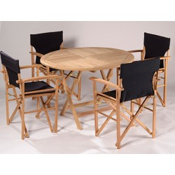 Easy Fold Chair and Round Table