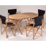 Easy Fold Chairs & Oval Table Set