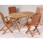 Surrey 140cm Easy Fold Table and 4 Chairs