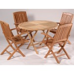 Surrey 110cm Easy Fold Table and 4 Chairs