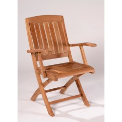 Surrey Teak Folding Arm Chair