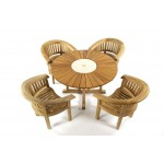 Cornwall Teak Armchairs With 130 Sunshine Table