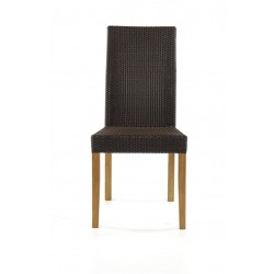 Kendal Teak And Pol Rattan Garden Side Chair