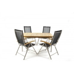 Kinver Set With Ocean Stacking Chairs