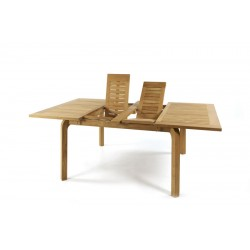 Nevis Teak Double Extension Garden Table