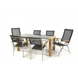 Ocean 170 Granite Table Top Set With Stacking And Reclining Chairs