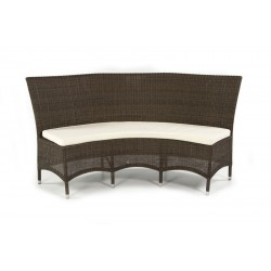 Pacific Ebony All Weather Double Bench With Cushion