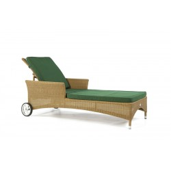 Pacific Honey All Weather Sun Lounger With Cushion