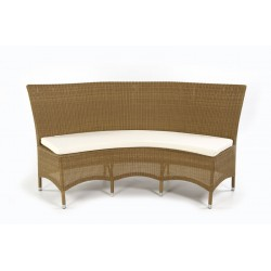 Pacific Honey Double All Weather Loom Bench With Cushion