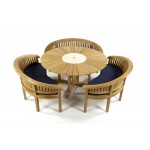 Sunshine 160 Teak Garden Set with Cornwall Benches