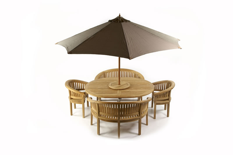 Patio furniture with parasol